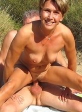 Beautiful female nudists sharing pussy secretly