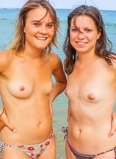 delicious naturist chicks dreamed about sex In the company of nudists on the beach