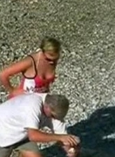 Mature couple gets horny while exploring the seaside at Nude Beach Dreams